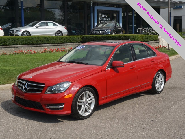 Certified pre owned 2014 mercedes benz c class c300 4d for Mercedes benz bloomfield hills service hours